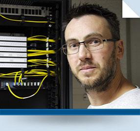 Thomas, technicien supérieur réseaux et systèmes